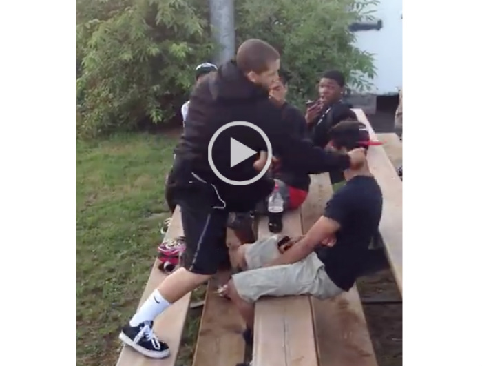 [WATCH] Meek Kid Takes Bully's Punches, Then TURNS IT ON In An Instant