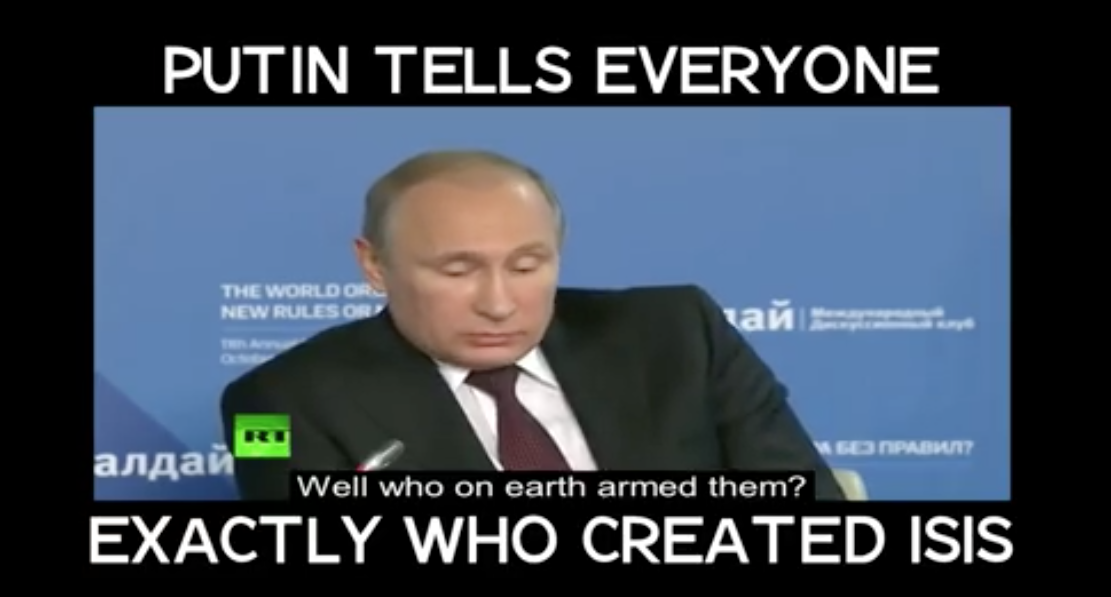 [WATCH] Trump Blames Obama For ISIS, Then VIDEO Of Vladimir Putin Goes VIRAL