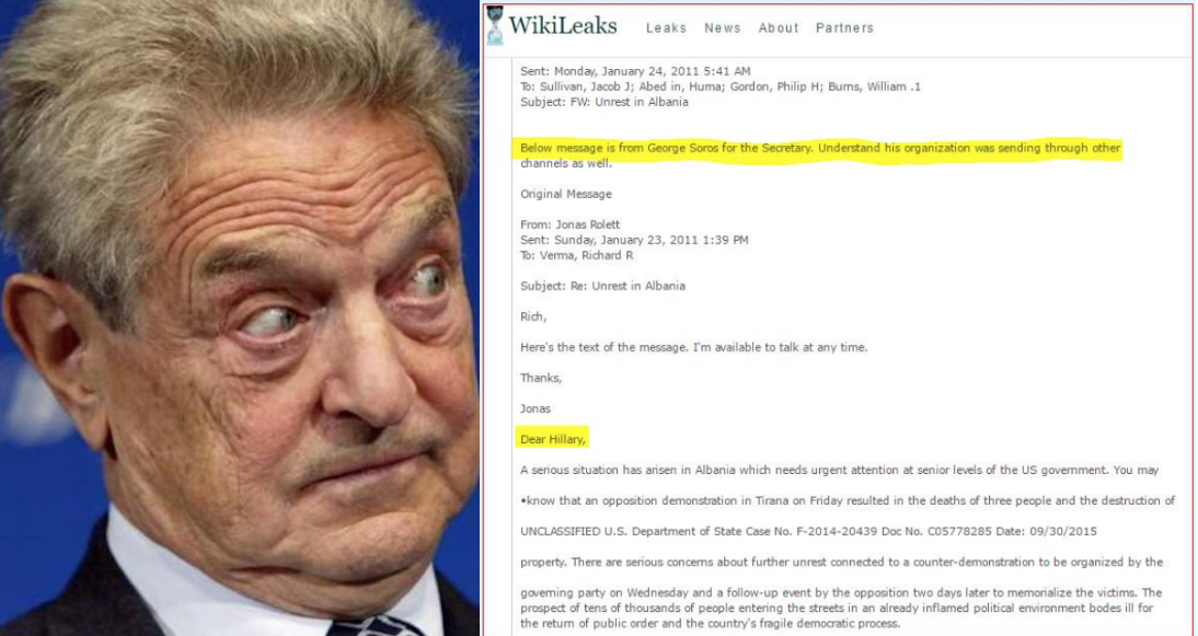 New Hillary Email From WikiLeaks Shows George Soros Emailing With Foreign Policy Preferences