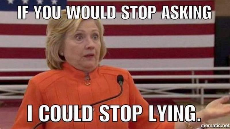 lying Hillary