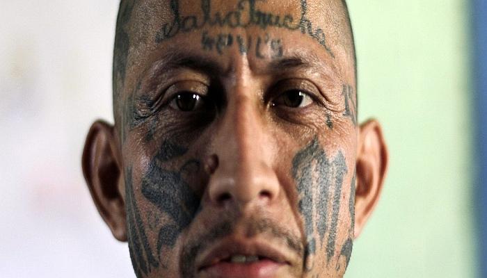 Carlos Tiberio Ramirez, one of the leaders of the Mara Salvatrucha (MS-13) gang. REUTERS/Ulises Rodriguez