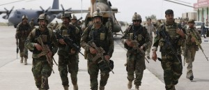 Afghan security forces arrive at the Kunduz airport in Afghanistan on April 30, 2015. REUTERS/Omar Sobhani/File Photo Read more: http://dailycaller.com/2016/09/30/the-taliban-is-killing-off-afghan-forces-at-a-rate-of-18-per-day/#ixzz4Lm1hqzLe