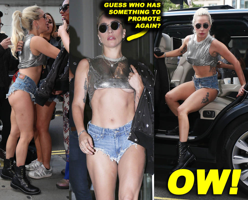 52168409 Pop star Lady Gaga is spotted at the Kiss FM studio in London, England on September 9, 2016. The 'Perfect Illusion' singer was rocking a pair of very short denim shorts as she greeted her fans. FameFlynet, Inc - Beverly Hills, CA, USA - +1 (310) 505-9876 RESTRICTIONS APPLY: USA/CHINA ONLY