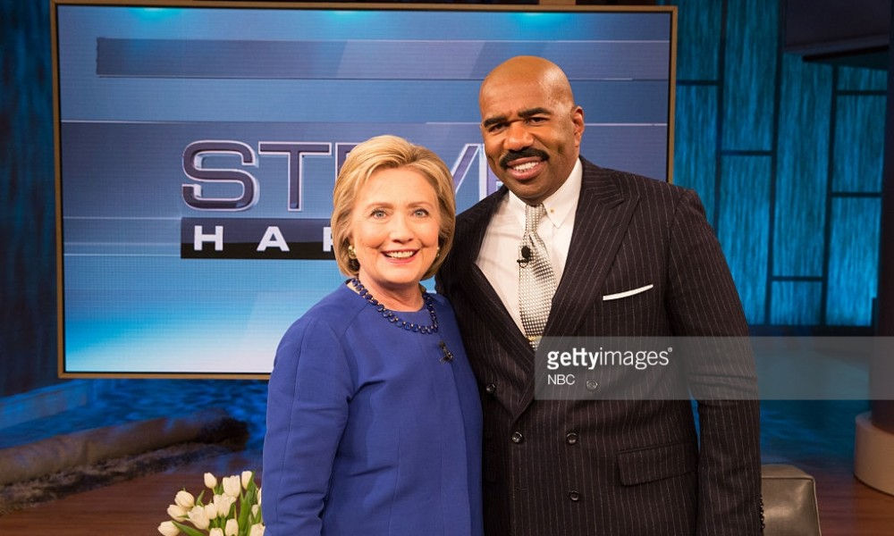 """[VIDEO] Hillary Promises Steve Harvey She Will Talk to """"White People"""" About Their Racism"""
