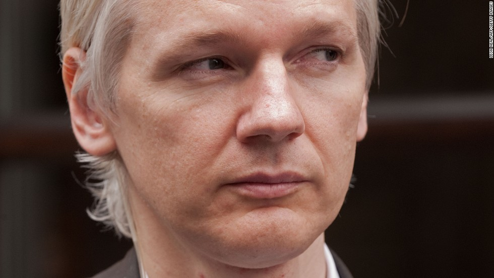 """Australian founder of whistleblowing website, 'WikiLeaks', Julian Assange speaks to media after giving a press conference in London on July 26, 2010.  The founder of a website which published tens of thousands of leaked military files about the war in Afghanistan said Monday they showed that the """"course of the war needs to change"""".  In all, some 92,000 documents dating back to 2004 were released by the whistleblowers' website Wikileaks to the New York Times, Britain's Guardian newspaper, and Germany's Der Spiegel news weekly.    Assange also used a press conference in London to dismiss the White House's furious reaction to the disclosures.    AFP PHOTO/Leon Neal (Photo credit should read LEON NEAL/AFP/Getty Images)"""