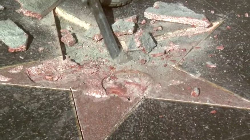 Homeless Man Prevents Vandals Wanting to Deface Trump Hollywood Star
