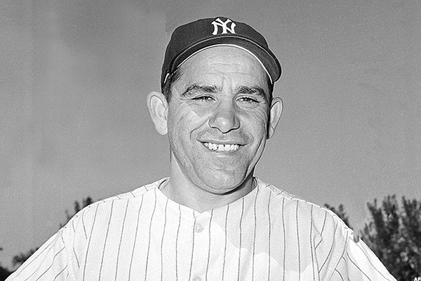 Yogi Berra, catcher for the New York Yankees, is shown during spring training in March 1960.  (AP Photo)