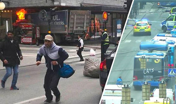 Terrorist Drives Large Truck Through Busy Street in Stockholm