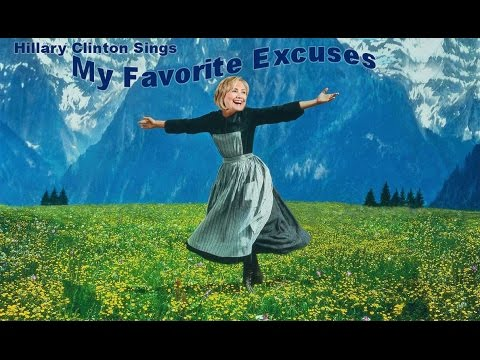 """HILLARYOUS: Hillary Clinton Sings """"My Favorite Excuses"""" [VIDEO]"""