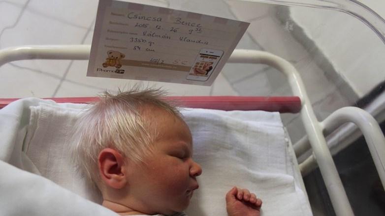 Adorable Baby Boy Born With Grey Hair
