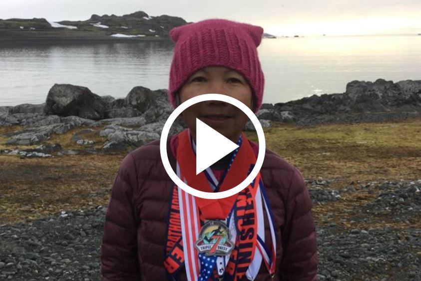 70yo Refuses To Let Her Age Define Her, Runs 7 Marathons In 7 Days [WATCH]