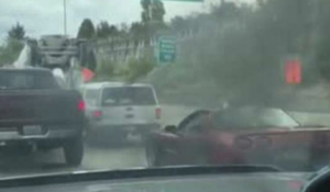 Corvette Driver Rolls Window Down & Flips Guy The Bird Learns Harsh Lesson That Will Not Soon Forget