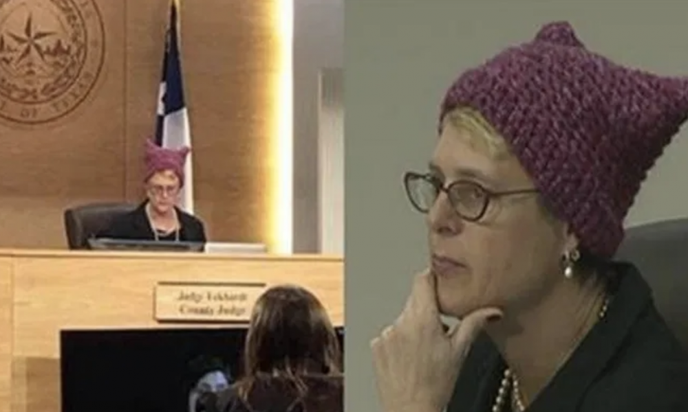 """LIBERAL JUDGE LEARNS HER FATE AFTER WEARING ANTI-TRUMP """"P*SSY HAT"""" ON THE BENCH"""