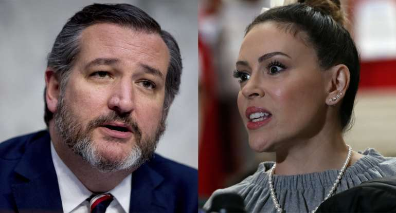 Watch Ted Cruz School Left Wing Nut, Alyssa Milano On Why Self-Defense Is a God-Given Right