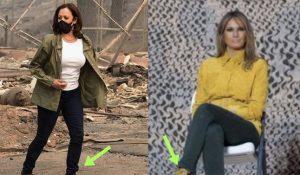 Liberal MSM Praises Kamala Harris's Shoe Choice After 'Trashing' Same Look On Melania