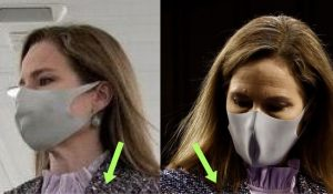 Amy Coney Barrett Has Tongues Wagging After Wearing An 'Armor' Outfit At Confirmation Hearing